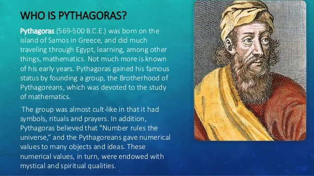 an analysis of pythagorean theorem by the greek mathematician pythagoras Pythagoras was an ancient greek philosopher, mathematician and founder of a religious movement, who lived from about 570 - 495 bc his most famous contribution is the theorem discussed here he started a religious movement, whose followers called themselves pythagoreans.